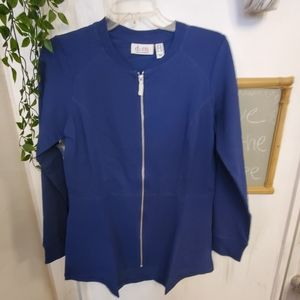 New zippered high low jacket